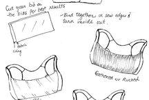 korsetter, underkläder mm