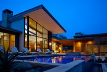 Caslano by LaRue Architects / This charming hill country contemporary is perched perfectly beneath huge pecan trees overlooking Lake Austin. With its soft and inviting materials palette, this home raises the bar in Caslano.