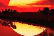 Sunset & waterfalls☀