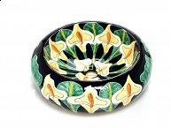 Umywalki meksykańskie obłe / Oryginalne ręcznie malowane umywalki nablatowe obłe z Meksyku. Wysyłka z Polski na cały świat. Więcej znajdziesz tutaj: www.kolorymeksyku.pl #umywalka #umywalki #talavera #meksyk #kolorowa #umywalka