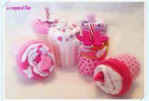 Idea da regalare per una nascita , Cupcake decorate con indumenti per il neonato / Idea da regalare per una nascita , Cupcake decorate con indumenti per il neonato