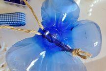 Műanyag üvegaljból pillangó