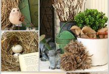 Vårdekorasjoner - spring decorations