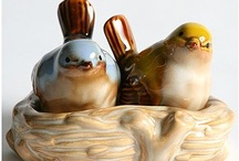 Ceramic Birds / I collect these too.