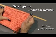 "point de tricot ""arête de hareng"""