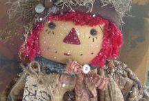 bambole e pupazzi di pezza
