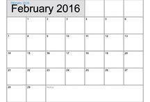 Free Printable Calendar February 2016 / Free Printable Calendar February 2016, #calendars, #FebruaryCalendars, #free, Calendars2016, #popularCalendars