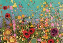 Original Artworks by Yvonne Coomber / An opportunity to buy these beautiful original paintings directly from the artist. Oils, glitter, gold leaf and mixed media sparkle with love and magic.