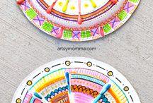 knutselen met papierenbordjes