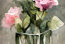 Suluboya çiçek resimleri