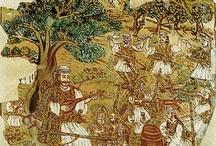 ΠΙΝΑΚΕΣ  ΘΕΟΦΙΛΟΥ ΧΑΤΖΗΜΙΧΑΗΛ / Ο Θεόφιλος θεωρείται ως ένας από τους πιο αντιπροσωπευτικούς Έλληνες λαϊκούς ζωγράφους. Η τέχνη του και η γενικότερη στάση της ζωής του εκφράζει τη μεγάλη αγάπη και το θαυμασμό που ένιωθε για την πατρίδα του και για κάθετι που ήταν ελληνικό. Γεννήθηκε στη Λέσβο γύρω στα 1870. Τον Μάρτιο του 1934 βρέθηκε νεκρός στο σπίτι του.