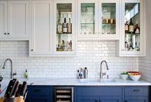 Navy cabinet kitchen