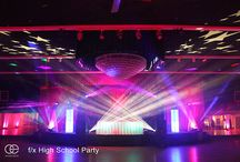 Lighting - Proms and School Dances / Fabulous school dance lighting examples !