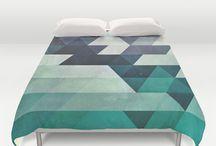 Duvet-rug-shower curtain-wall hanging dreams board