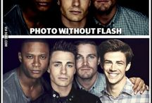 The Flash and Arrow / Oliver, Felicity, Barry, Cisco and Cait