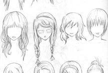 μαλλιά ζωγραφική