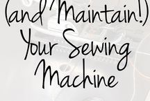 taking care of sewing machine