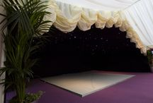 Party Tents - Outdoor Party Structures / Party Tent Interiors - Includes transformed venues dressed marquees, perfect for your party inspiration