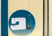 Sy med owerloook rulle i vanlig symaskin.