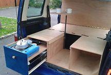 Minivan camping