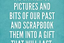 For the love of scrapping quotes and words / Scrapbooking