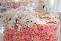 Jupe de table en fleur