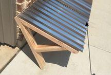 Corrugated Metal awing