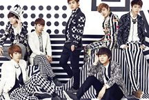 Infinite (인피니트) / Infinite (인피니트) is a seven-member South Korean pop boy band, formed in 2010 by Woollim Entertainment. Sungkyu (성규 Kim Sungkyu) Born: April 28, 1989. Dongwoo (동우 Jang Dongwoo) Born: November 22, 1990. Woohyun (우현 Nam Woohyun) Born: February 8, 1991. Hoya (호야 Lee Howon) Born: March 28, 1991. Sungyeol  (성열 Lee Sungyeol) Born: August 27, 1991. L (엘 Kim Myungsoo) Born: March 13, 1992. Sungjong (성종 Lee Sungjong) Born: September 3, 1993. / by Usako Choi