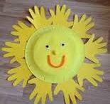 słoneczko z dłoni