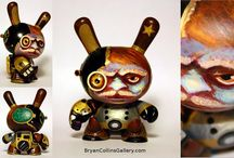 Custom Toys by Bryan Collins / Munny, Dunny, Kidrobot, Android, Teddy Troops, Marshall, and other urban vinyl art toys painted by Bryan Collins.