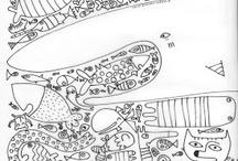 Coloriage et doodle / graphisme ,gribouillage...