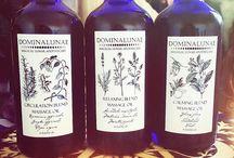 Massage oils / glass 100ml bottles