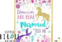 Unicorn and Mermaid party