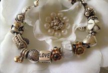 European Bracelets Jewelry / With Lampwork Beads