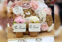 Bouquet de Mariée et Bracelet Dentelle et Toile de Jute