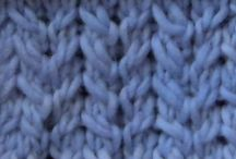 Different knitting stitch patterns