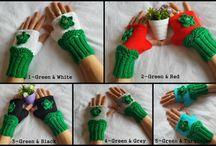 Mittens, Gloves , Fingerless Mittens / Cute mittens models #mittens #gloves #fingerless #knitting
