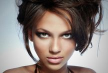 Girls - brown and nut hair - photo