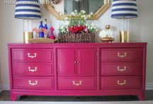Furniture / Furniture | This board features colorful, chinoiserie, classic furniture pieces including bamboo, rattan, beautiful velvet couches, painted dressers, and antique chairs.