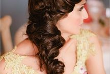 Wedding Hair: Long Side Styles / For Brides who want a sweeping effect