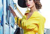 Yellow color. black hat / Лилия Гуреева, шляпки. Шляпная мастерская. Hats/\