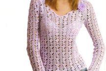 bluzeczki szydełkiem