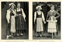 Finland's folk art / Folk costumes and other traditional clothing, handicraft, art.
