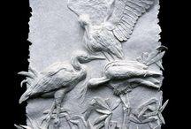 7th - paper pulp sculpture