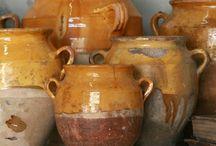 Népi kerámiák,cserepek, régi konyhai használati tárgyak