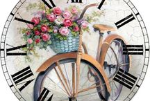 Wall Clock Decoupage
