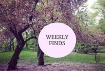 Weekly Finds / Every Friday I post the links that I discovered that week.  I often share posts items in the news, style inspiration, recipes, and DIY tips.