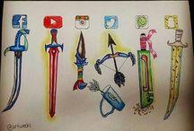 miecze i różne rzeczy