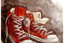 Scrapbok bilder sko