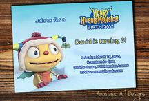 Henry HuggleMonster Invitations